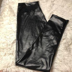 Faux leather leggings size medium EUC
